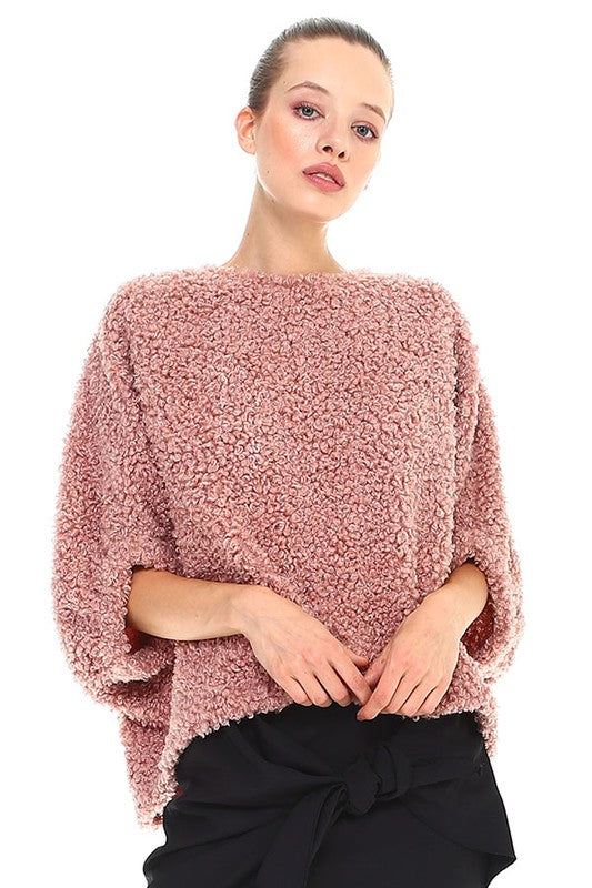 Sweet Mauve Sherpa Top