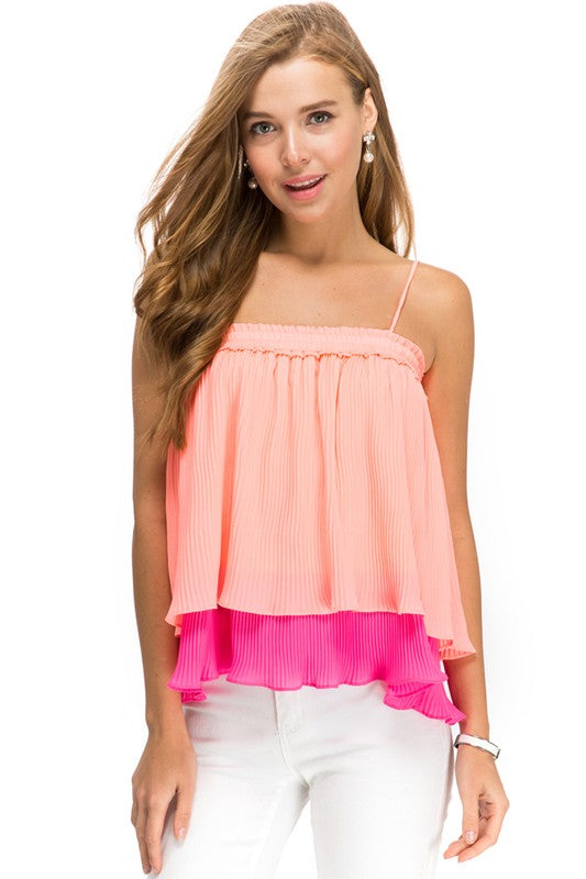 Pleated Kisses Top