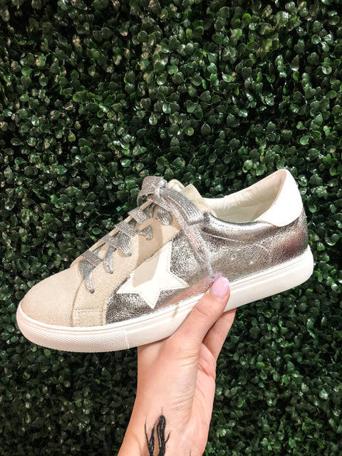 Metallic Star Sneakers