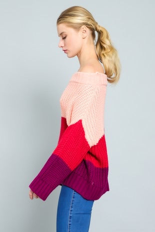 Plum Romance Sweater