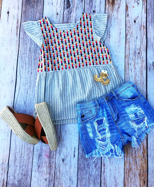 Savannah Stripes Top