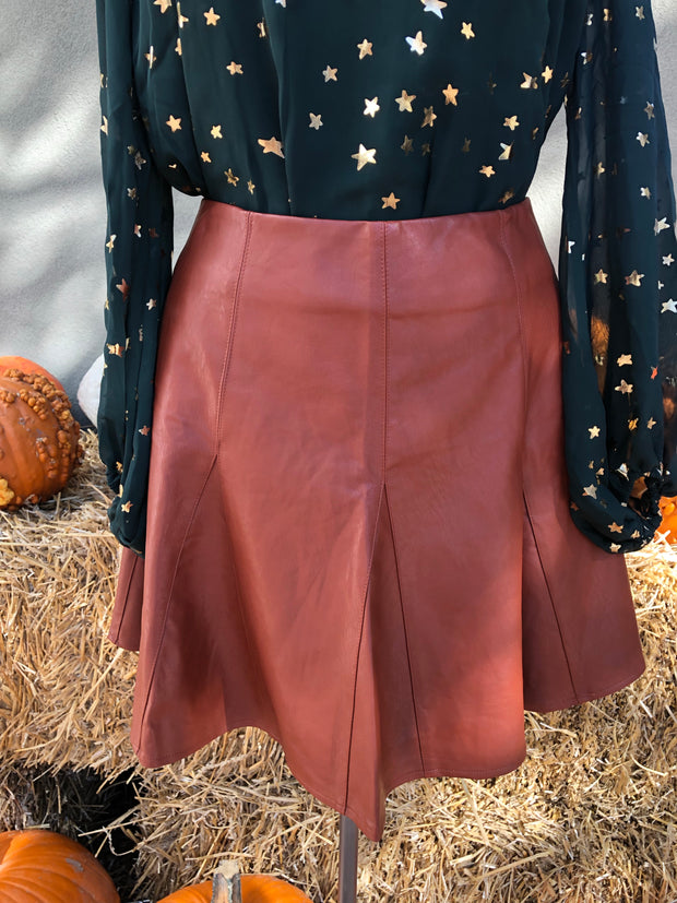 Skater Girl Leather Skirt