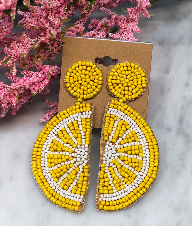 Lemon Zest Earrings