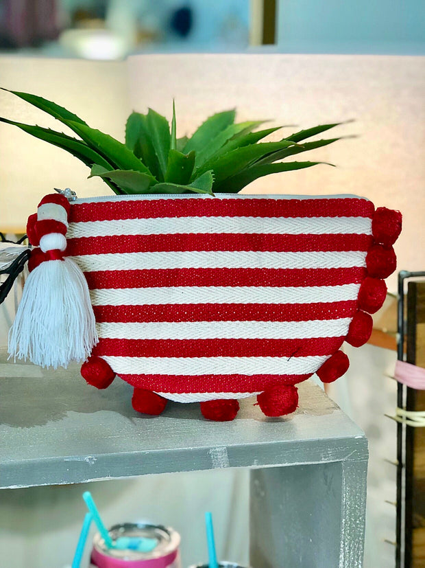 Nantucket Striped Clutch