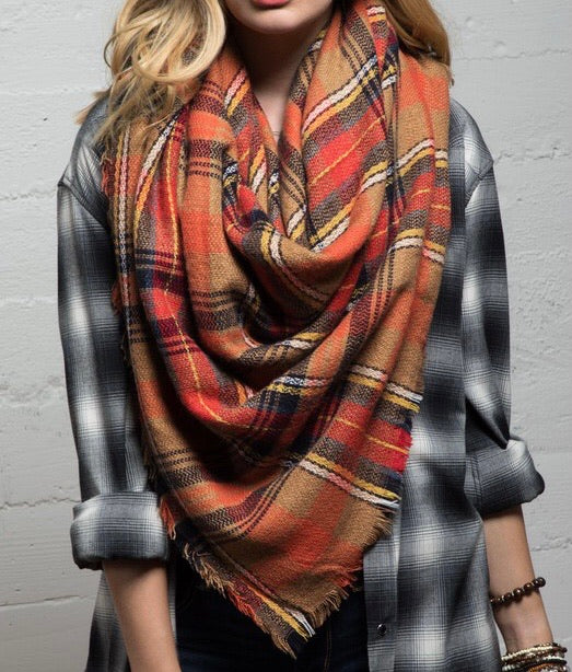 Leaves Blanket Scarf