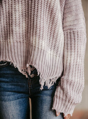 Lilac Dyed Sweater