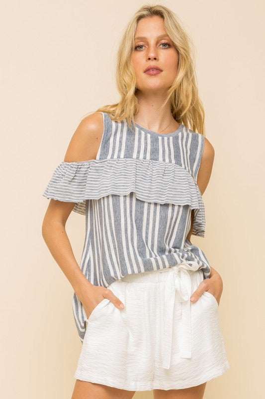 Landon Denim Stripes Shirt
