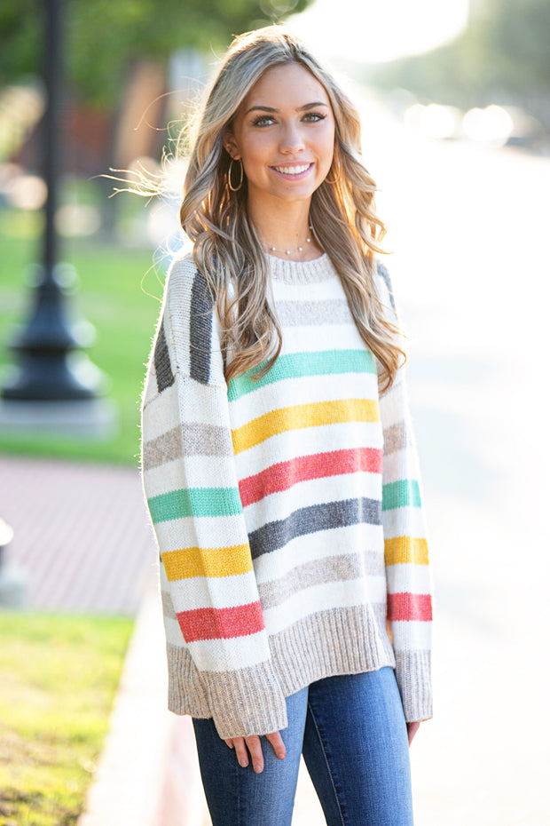 Harvest Stripes Sweater