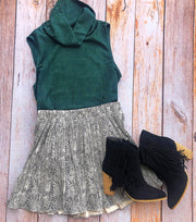 Stone Pleat Skirt