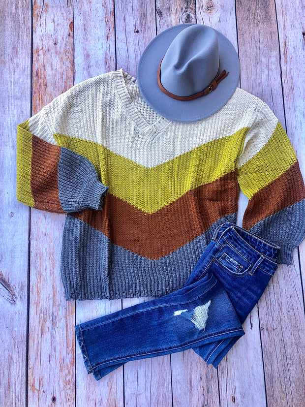 Smoked Kiwi Colorblock Sweater
