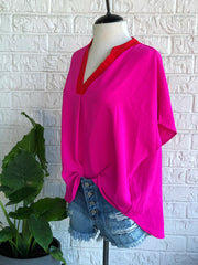 Lipstick Colorblock Tunic