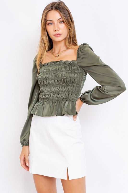 Olivia Shirring Top