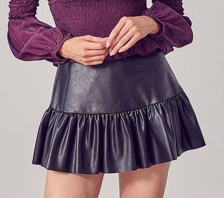 Midnight Ruffle Skirt