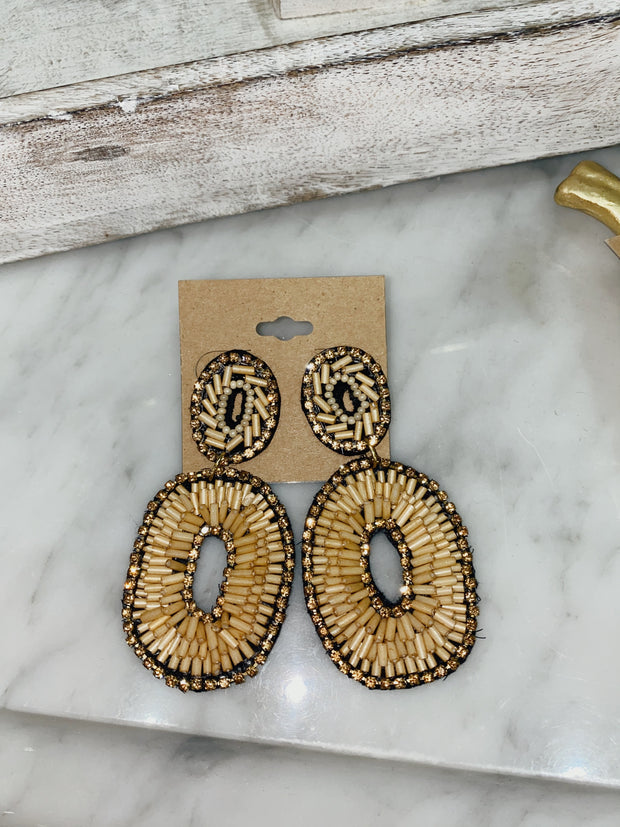Tawny Beaded Earrings