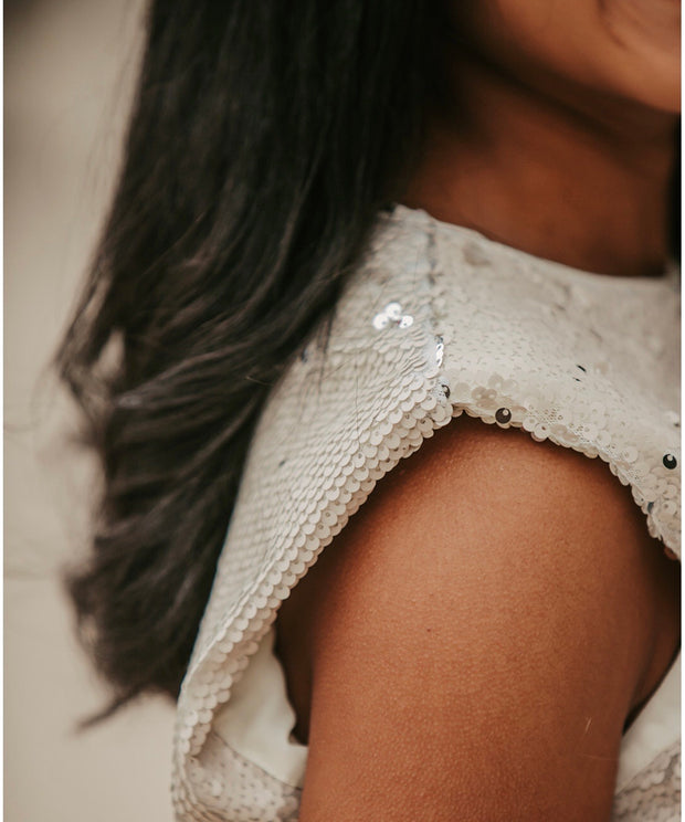 Snowy Sequin Top