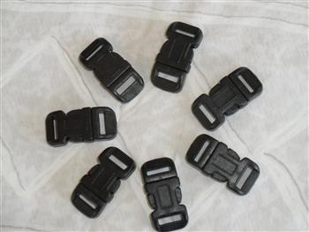 Black buckles - 12mm (1/2 inch)