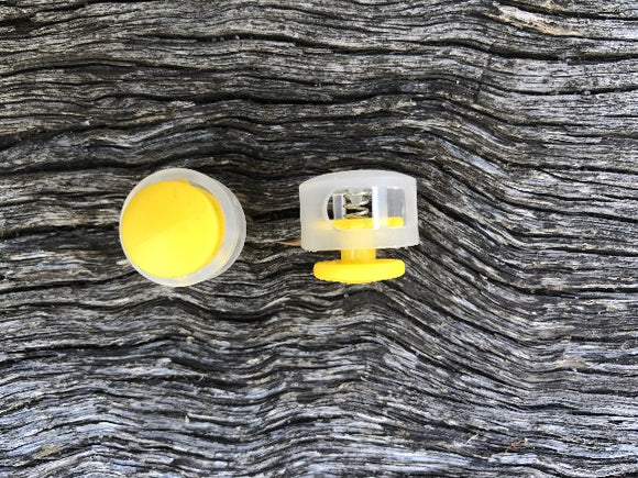 Button Toggle - Clear & Yellow