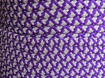 Acid Purple-Silver Diamonds Lead Rope - 12.5mm
