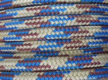 Beige-Brown-Blue Tobiano Lead Rope - 12mm