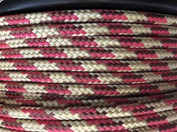 Beige-Brown-Pink Tobiano Lead Rope - 12mm