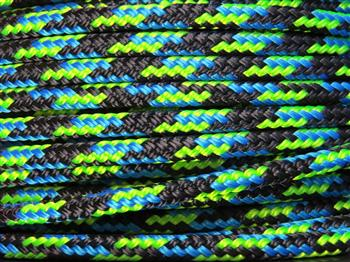 Black-Blue-Lime Tobiano Horse Halter - 6mm