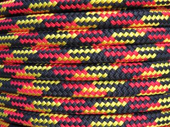 Black-Red-Yellow Tobiano Lead Rope - 12mm