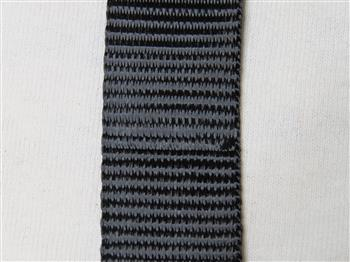 Polyester webbing - Black 15mm