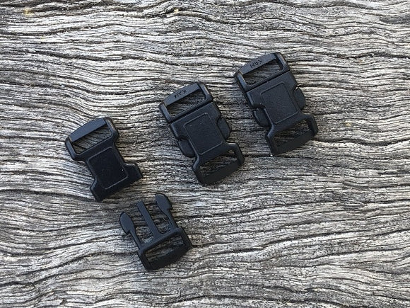 Black Buckles - 10mm (3/8 inch)