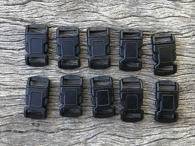 Buckle pack - 20 Black x 10mm (3/8 inch)