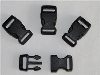 Black Buckles - 15mm (5/8 inch)