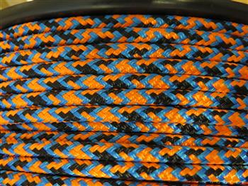 Black-Blue-Orange Appaloosa halter - 6mm