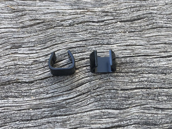 Rope U Clamp - Black 6mm