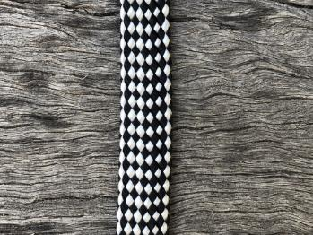 Dog Leash Strapping - Black/White
