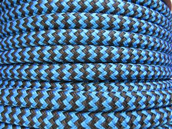 Blue-Black zig zag  - 12mm