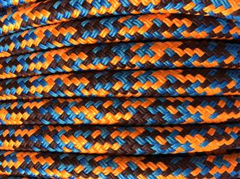Blue-Burgundy-Orange Appaloosa Lead Rope - 12mm