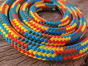 Blue-Green-Red-Yellow Lead Rope - 12mm