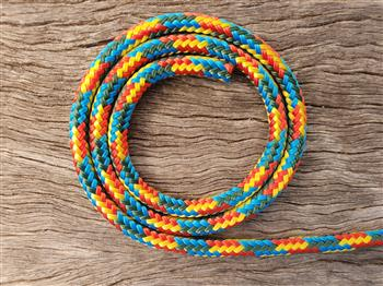 Blue-Green-Red-Yellow Horse Halter - 8mm