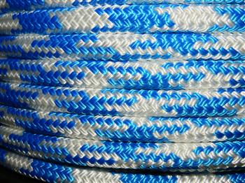 Blue and White Tobiano Rope - 10mm