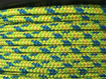 Blue-Lime-Yellow Appaloosa  halter - 6mm