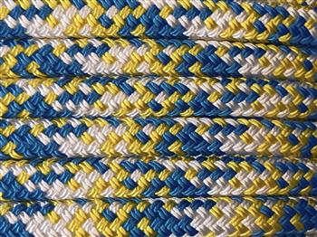 Blue-Yellow-White Appaloosa Lead Rope - 12mm