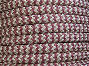 Beige-Brown zig zag Lead Rope - 12mm