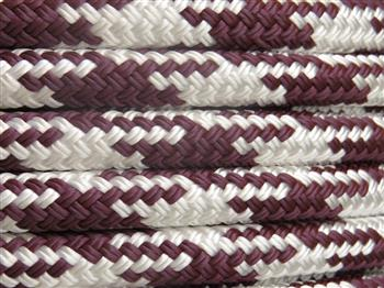 Burgundy-White Tobiano Lead Rope - 12mm