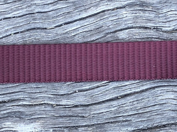 Polyester webbing - Burgundy 20mm