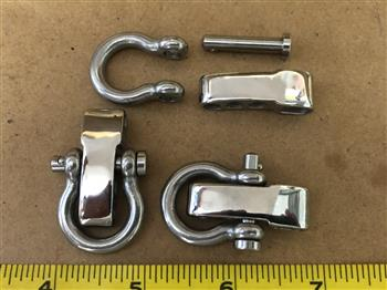 Adjustable Bar & Clevis Pin Bow shackle - Stainless Steel