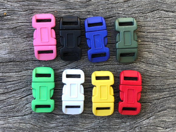 Buckle pack - 20 Coloured x 12mm (1/2 inch)