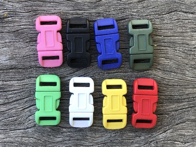 Buckle pack - 10 Coloured x 12mm (1/2 inch)
