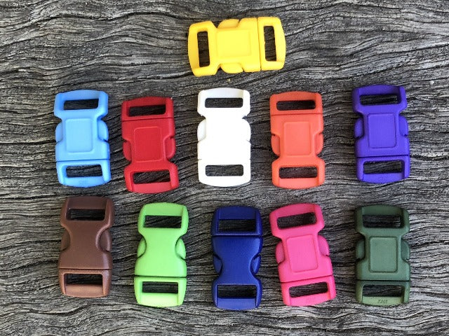 Buckle pack - 10 Coloured x 10mm (3/8 inch)