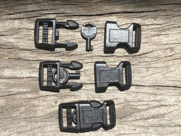 Handcuff Key Black Buckles - 15mm (5/8 inch)