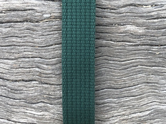 Spun Polyester Webbing - Dark Green 20mm