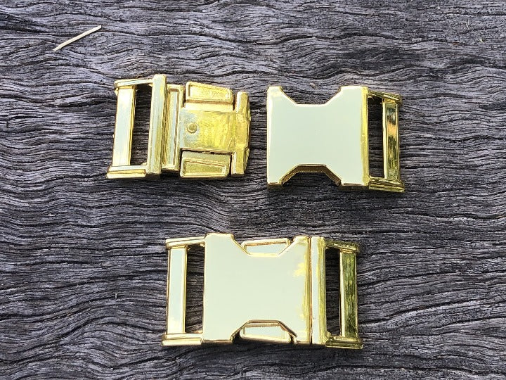 Metal Buckle H/Duty - Gold 25mm (1 inch)
